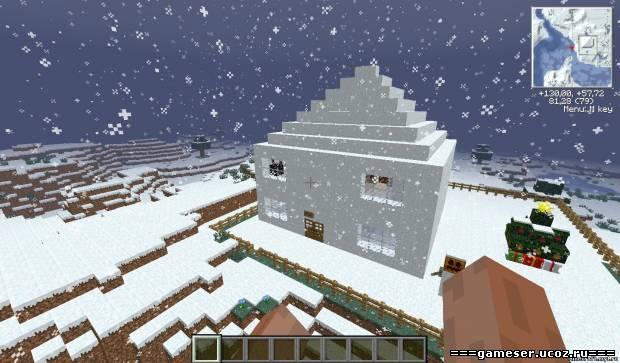 карта дом frost в майнкрафт